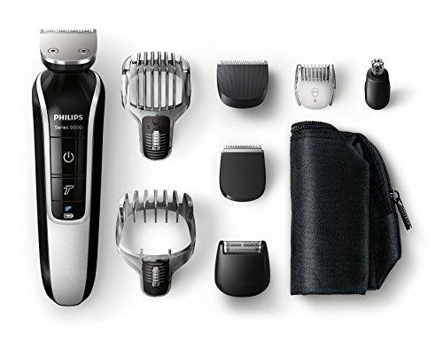 Philips MultiGroom QG3371/16 - Set de arreglo personal, resistente al agua, con funda de viaje, incluye 8 accesorios