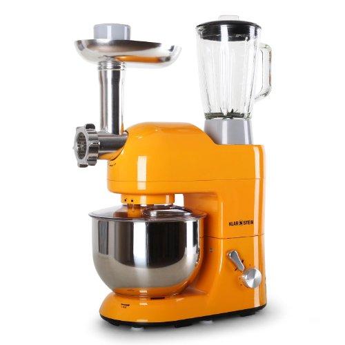 Klarstein Lucia Orangina - robot da cucina, mixer, impastatrice, 1200 W, 5 L, sistema planetario,...