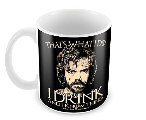 Creative Game Of Thrones - Tyrion Lannister - I Drink And I Know Things Ceramic Coffee Mug (350 ml, 11 oz)