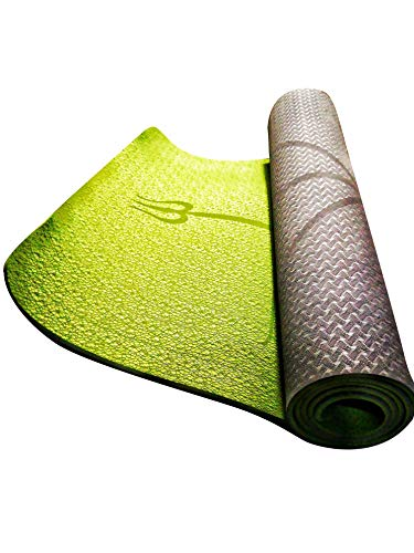 AlFly Tappetino Mat Yoga e Pilates Professionale e Ecologico, Modello 2019 con Linee Allineamento...
