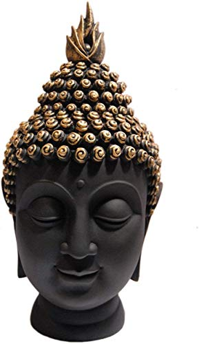 StoresHub Hancrafted Palm Buddha Head Polyresin Showpiece (Golden)