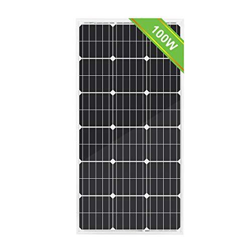 ECO-WORTHY Módulo Solar 100w 12v policristalino para Cargar baterías
