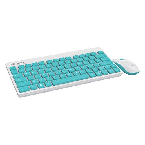 Portronics Key2-A Combo of Multimedia Wireless Keyboard & Mouse, Compact Light-Weight for PCs, Laptops and Smart TV, White
