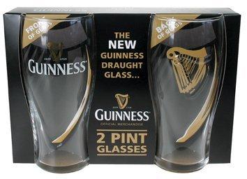 Guinness-Set di 2bicchieri, decorazione: arpa