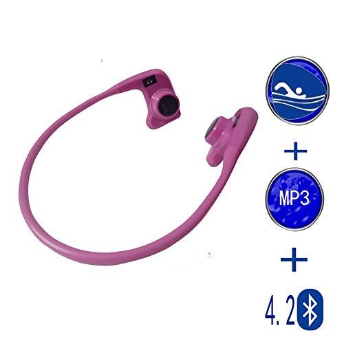 Auriculares de la natación de Bluetooth de la conducción de hueso,Viene con un reproductor de MP3 incorporado y una tarjeta de memoria de 8GB. Adecuado para la natación/fitness/deportes al aire libre