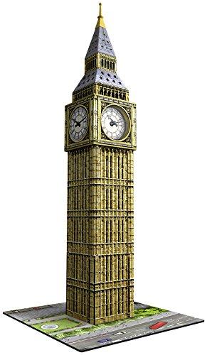 Ravensburger Italy Puzzle 3D Big Ben con Orologio Funzionante, Multicolore, 12586