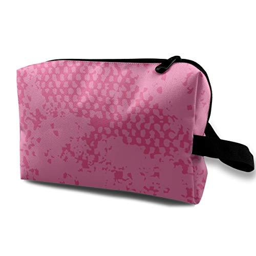 Hot Pink Magenta Blush Fall Moteado Neutral Decoración para el hogar Portátil de viaje Maquillaje Cosmético Bolsas Organizador Fundas multifunción para las mujeres