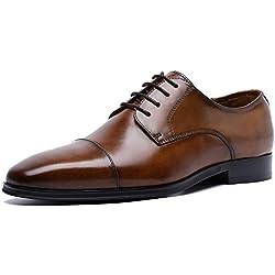 DESAI Homme Chaussures de Ville à Lacets Derby, Marron, 46EU(46CN)