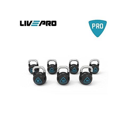 LivePro STEEL COMPETITION KETTLEBELL-16kg Pesi Allenamento Fitness Crossfit Training Manubrio da...