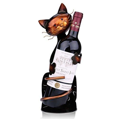 Tooarts Portabottiglie Per Vino Dal Design, Cat Pratica Decorazione Scultorea Casa Scaffale del...