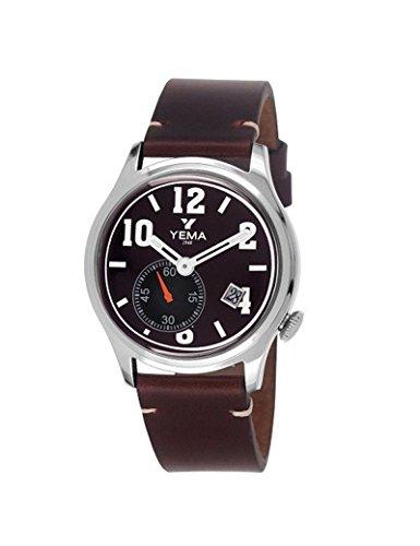 Yema orologio da uomo Meter marrone nero–marrone cuoio YMHF1267