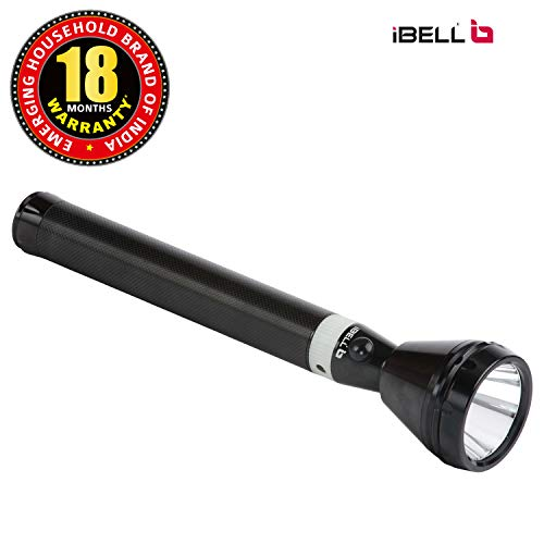 iBELL FL8368 Rechargeable Torch Flashlight, 2500 Mtrs Long Distance, Aircraft Aluminium Body with Ultra Bright LED Light