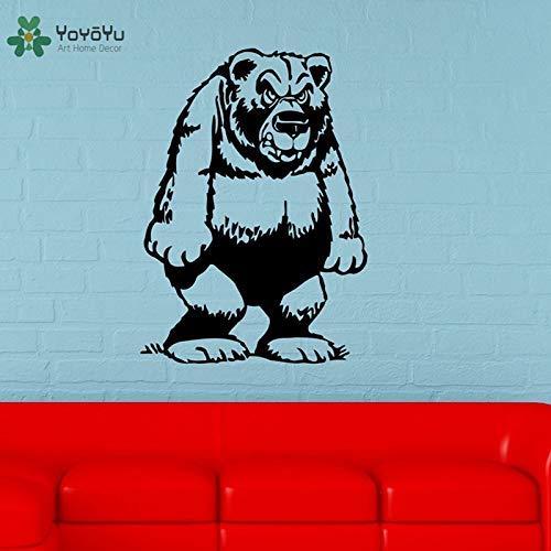 Decalcomania da Muro Arte del Vinile Home Decor Decorazione Divertente Animale Grizzly Decor per i...