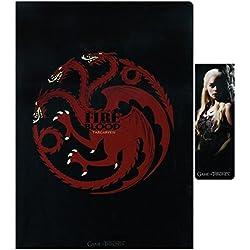SD Toys - Game Of Thrones, Targaryen, set libreta y punto de libro (SDTHBO02078)