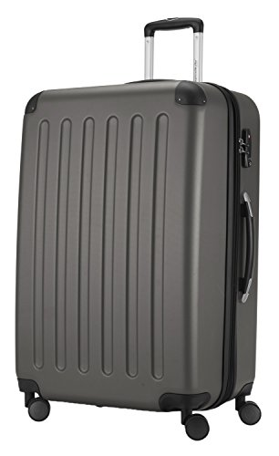 HAUPTSTADTKOFFER® Hartschalen Koffer SPREE 1203 · NEU 4 Doppel-Rollen · MATT · TSA Zahlenschloss · + KOFFERANHÄNGER (Set, Graphit) - 4