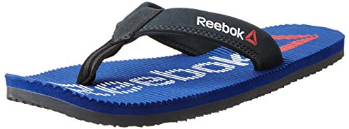 Reebok Men's Ultra Flip Reebok Royal, Gravel, Red and White Flip-Flops and House Slippers - 8 UK/India (42 EU)(9 US)