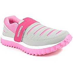 SHOES T20 Women's Grey And Pink Mesh Running Shoes - 5