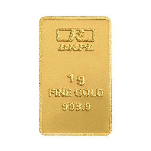 Bangalore Refinery 1 gm, 24k (999.9) Yellow Gold Bar