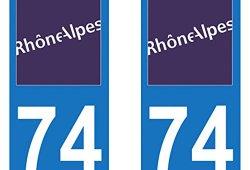 Paire Sticker immatriculation 74 – Haute Savoie Prix