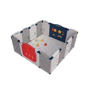 LIUFS-Valla Valla De Seguridad For Niños del Centro De Protección De Aprendizaje Paseo Zona De Juegos Cubierta Plegable…