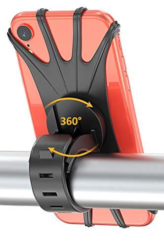 MATONE Soporte Movil Bicicleta, Soporte Universal Manillar de Silicona para Bicicleta Motocicleta, Apoyo 360° Rotación para iPhone y Samsung