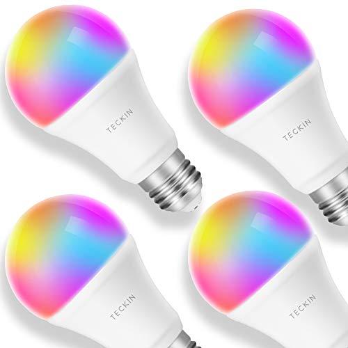 Lampdina Smart LED Multicolore Dimmerabile, TECKIN E27 Compatibile Con Alexa, Google Home IFTTT...