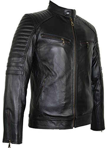 MDM Motorrad Lederjacke aus robustem Rindleder 1