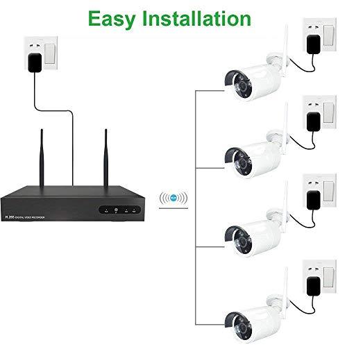 Kit de Surveillance Vidéo WiFi Aottom 8CH 720P WiFi Kit + 4pcs Caméras WiFi, Caméras de Surveillance WiFi Kit, Vision Nocturne, Détection de... 7