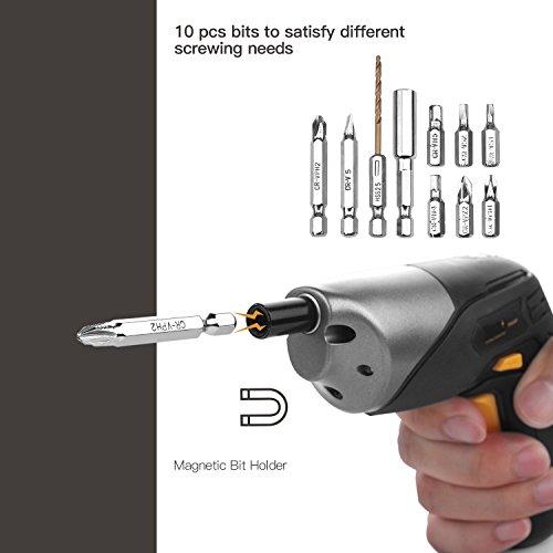 Cordless Screwdriver TECCPO Electric Screwdriver Rechargeable Screwdriver MAX Torque 4Nm