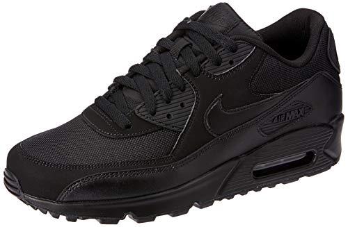 Nike Air Max 90 Essential - Zapatillas de running, Hombre, Negro (Black / Black-Black-Black), 42 EU