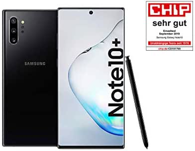 Samsung Galaxy Note 10+ Smartphone Bundle (17.2cm (6.8 Zoll) 256GB interner Speicher, 12GB RAM, Dual SIM, Android) Aura Black inkl. 36 Monate Herstellergarantie [Exklusiv bei Amazon] Deutsche Version