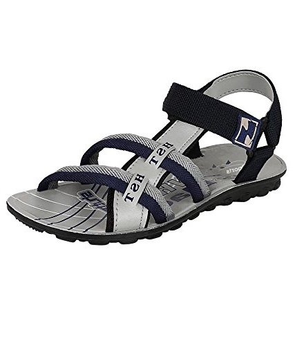 Jabra Pu-2 Grey Fashionably Top Quality Casual Sandals For Men Size:-7
