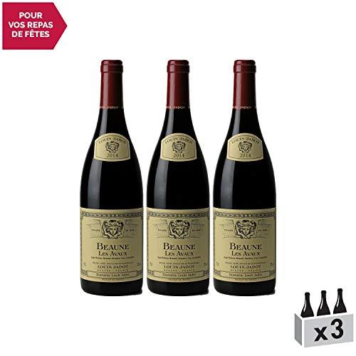 Beaune 1er Cru Les Avaux Rouge 2014 - Louis Jadot - Vin AOC Rouge de Bourgogne - Cépage Pinot Noir - Lot de 3x75cl