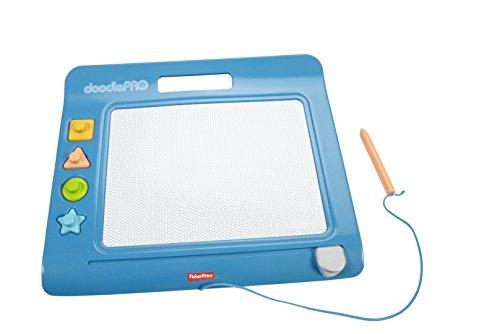 Fisher-Price CHH59 Doodle Pro Stempelspaß magnetische Maltafel Zeichentafel für Kinder, ab 3 Jahren, blau