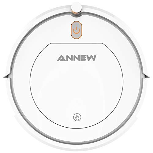 ANNEW Aspirapolvere Robot con Telecomando 3 modalità di Pulizia Anti-Caduta Filtro HEPA- per...