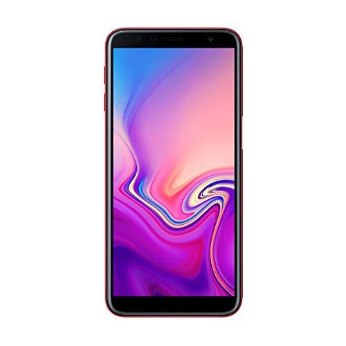 "Samsung Galaxy J6+ Smartphone de 6"", Quad Core 1.4 GHz, RAM de 3 GB, Memoria de 32 GB, cámara de 13+5 MP, Android, Color Rojo"