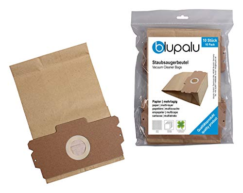 blupalu I 30x sacchetti di carta per aspirapolvere Gorenje 1400.0 I 30 pezzi I filtro di carta ecologico con microfiltro, filtro per polveri sottili