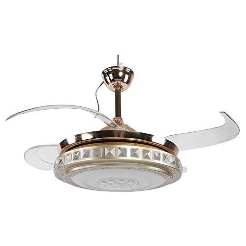 Ventilatore da Soffitto/Lampadario,Moderno lampadario a LED a Ventaglio a pale Retrattili con...