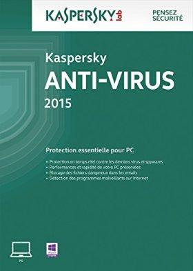 Kaspersky Anti-Virus 2015 - Monoposte - 2 ans [Download]