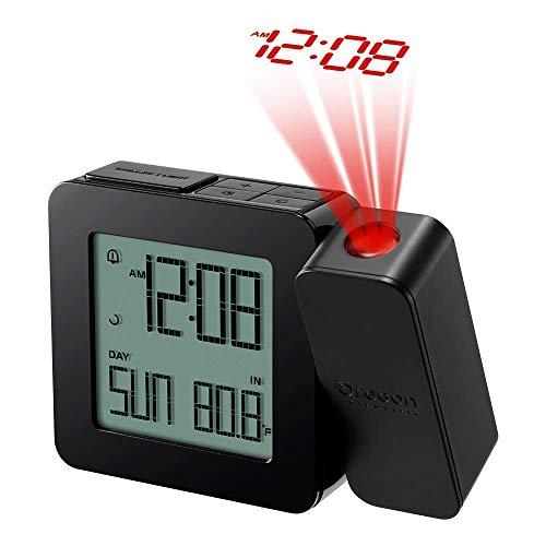 Oregon Scientific RM338PX Orologio con Proiezione e Doppio Allarme Sveglia, Nero