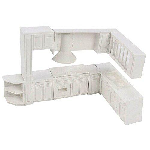 SODIAL Juguete en miniatura de Casa de munecas Molde de Muebles de la cocina del gabinete de la casa Conjunto de decoracion para el hogar