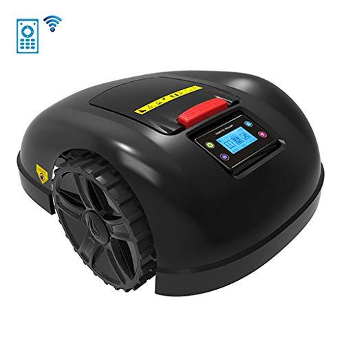 Wi-Fi Giardino Tagliaerba Robot, per 800-1300M², LCD Impermeabile Ricarica Automatica Rasaerba Robotizzato, Protezione dalla Pioggia Evitare l'ostacolo Tempismo Antifurto Tosaerba,A,13.2Ah