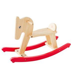 YULAN Trojan Shaking Horse de Doble Uso para niños Juguetes Shake Rocker Silla Mecedora de Madera Maciza Bebé Un año de Edad Regalo de cumpleaños