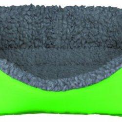 katzeninfo24.de Trixie 62703 Kleintierkuschelbett, 35 × 28 cm, grün/grau