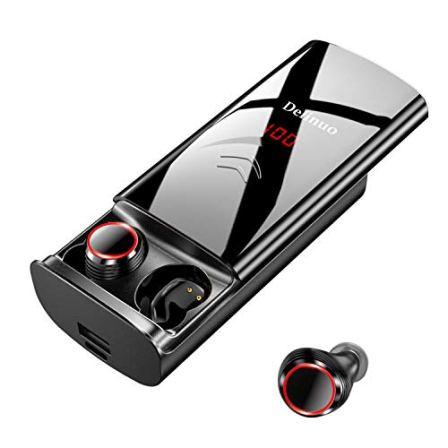 Delinuo-Auriculares-Inalmbricos-Bluetooth-50-Auriculares-Bluetooth-Estreo-Hi-Fi-Sonido-IPX6-Resistentes-al-Agua-260H-Autonoma-6000mAh-Estuche-de-Carga-para-iPhone-y-Android