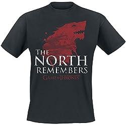 Juego de Tronos The North Remembers Camiseta Negro XXL