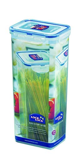 LOCK & LOCK Spaghetti-Box Spaghettidose Frischhaltedose, luftdicht, 2,0 Liter, 28cm hoch