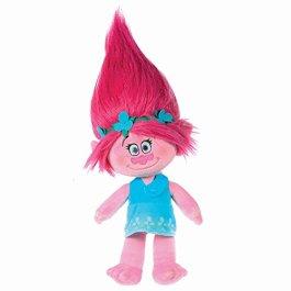 Trolls – Peluche Principessa Poppy 35cm, capelli rosa – Qualità super soft
