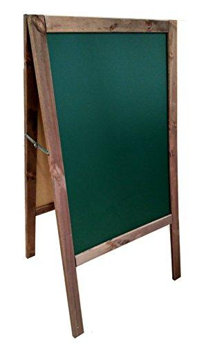 Lavagna verde con cavalletto, in noce. 120 x 60 cm, adatta per pennarello di gesso liquido e gesso...
