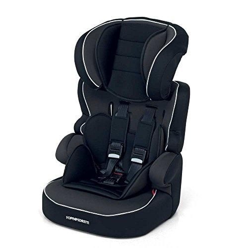 Foppapedretti Babyroad Seggiolino Auto, Gruppo 1/2/3 (9-36kg), per Bambini da 9 mesi fino a 12 anni, Nero